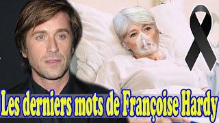 Françoise Hardy : Thomas Dutronc fond en larmes en révélant les derniers mots de sa mère.