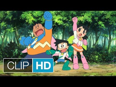 DORAEMON IL FILM - Nobita e gli eroi dello spazio - Gli Eroi entrano in azione | HD