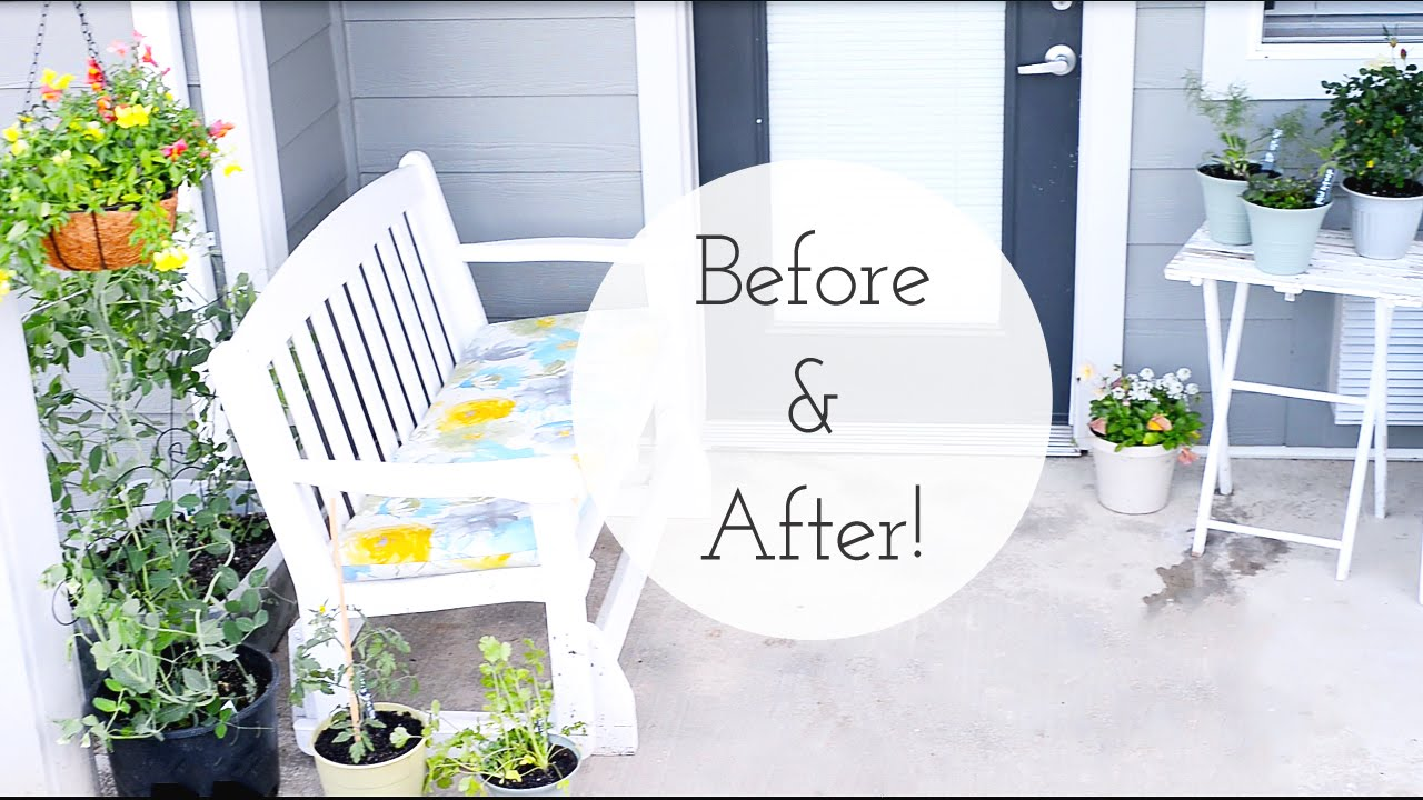 Apartment Patio Garden On A Budget | Dollar Tree   Before And After