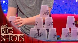 Speed stacker has hands that move like a hurricane | Little Big Shots