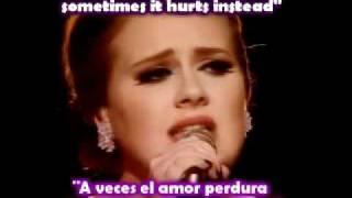 Adele - Someone like you (Ingles - Español)