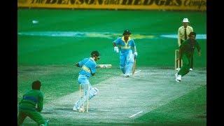 Gavaskar and Azharuddin Classic Match Winning Partnership of 132 Runs against Pakistan | MCG 1985