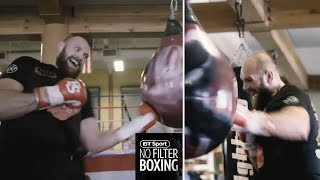 Tyson Fury looks incredible on the wrecking ball!