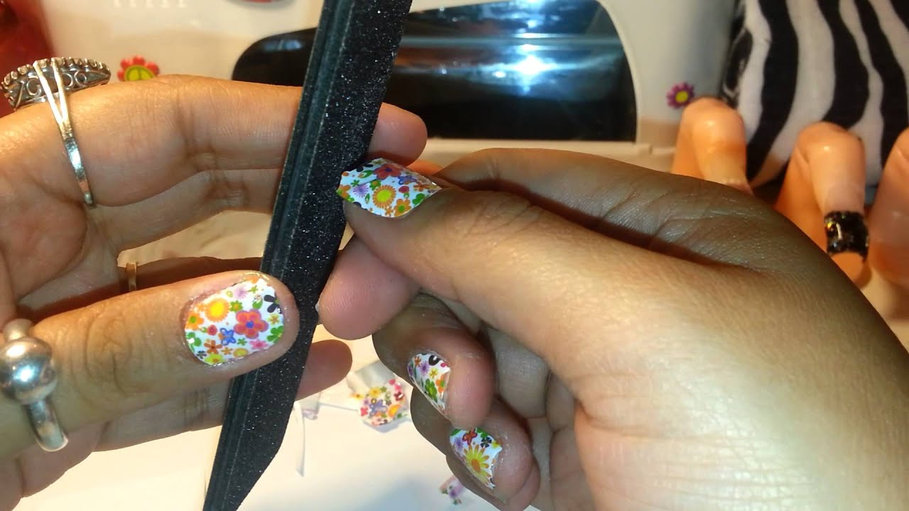How to: Donna Michelle nail stickers - YouTube