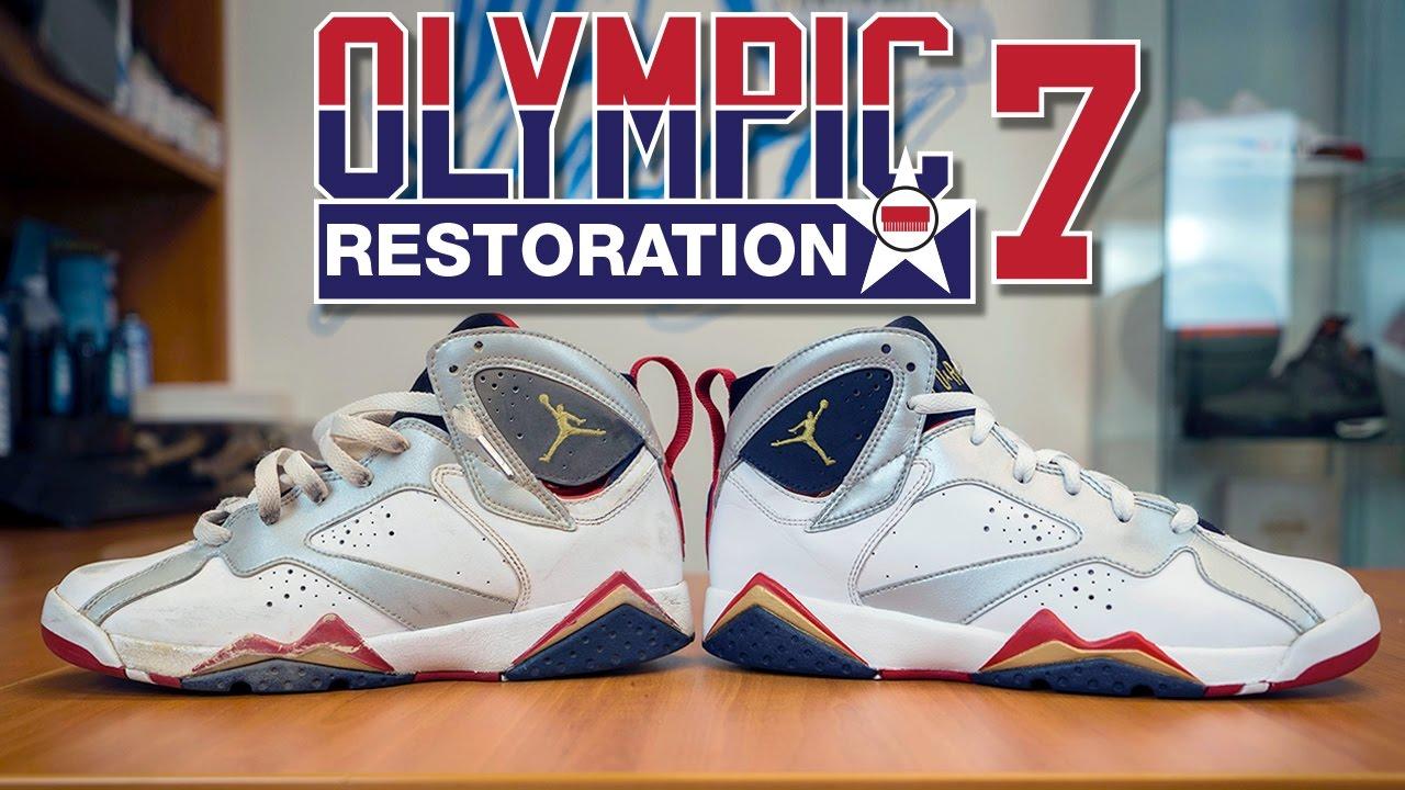 b9ee69a5e0ac Restorations With Vick - Air Jordan Olympic 7 Restoration - YouTube