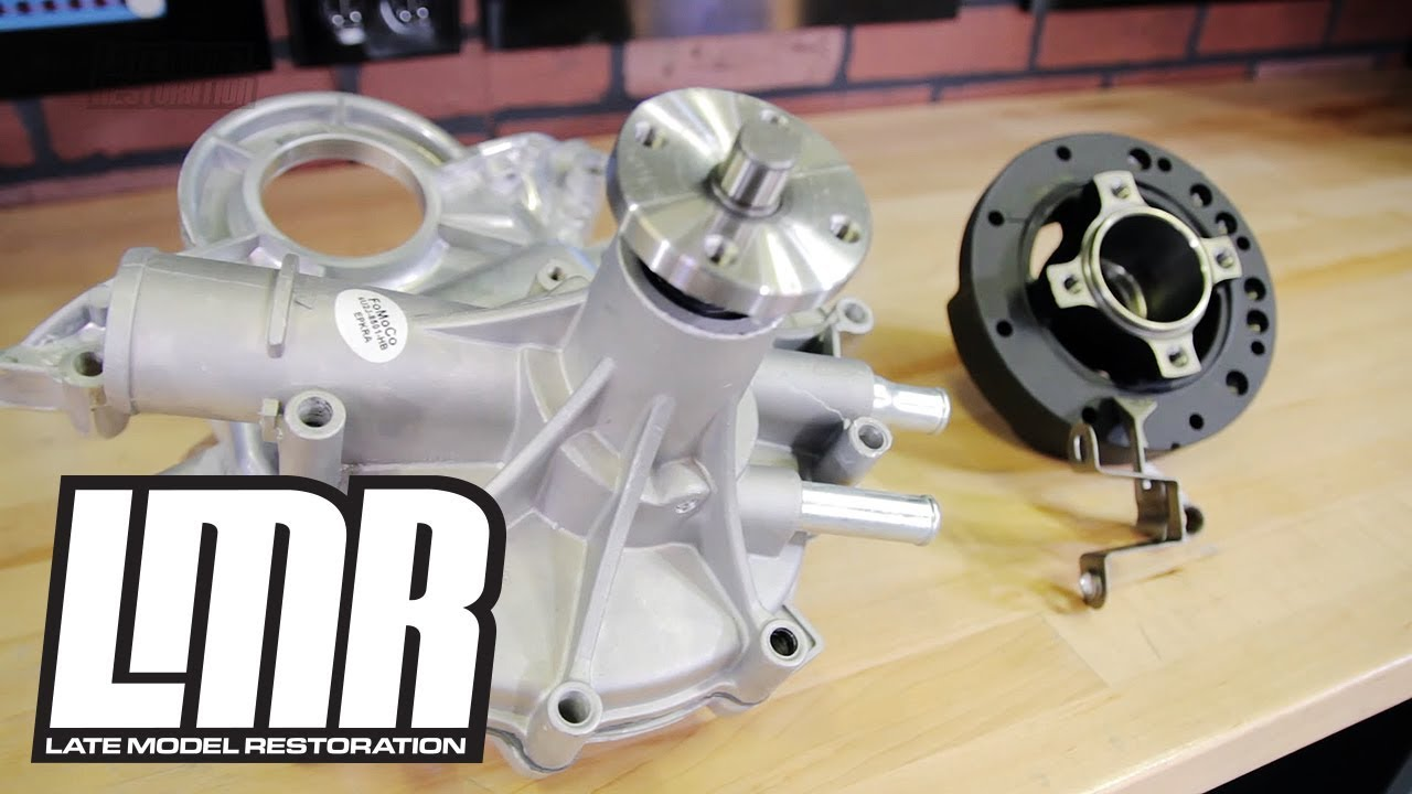 small resolution of how to install 302 351 mustang timing cover water pump 79 93 youtube