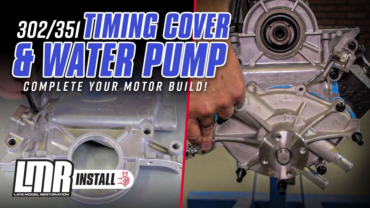 hight resolution of how to install 302 351 mustang timing cover water pump 79 93 youtube