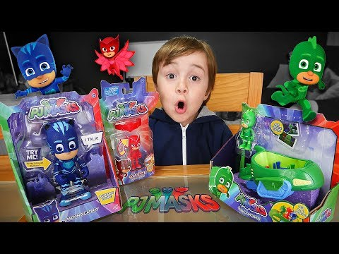 BRINQUEDOS DO PJ MASKS!! Menino Gato, Lagartixo e Corujita - Coleção PJ Mask Toys for Kids
