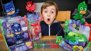 Brinquedos Do Pj Masks!! Menino Gato, Lagartixo E Corujita - Coleção Pj Mask Toy
