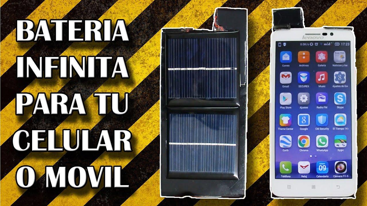 Bateria infinita para tu celular o movil cargador solar - Bateria para casa ...