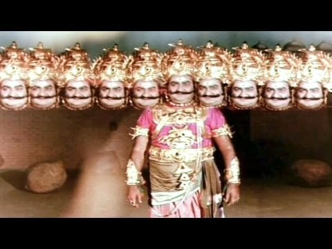 Sampoorna Ramayanam Action Scenes - Rama Killed Ravana - Shobhan Babu, SVR