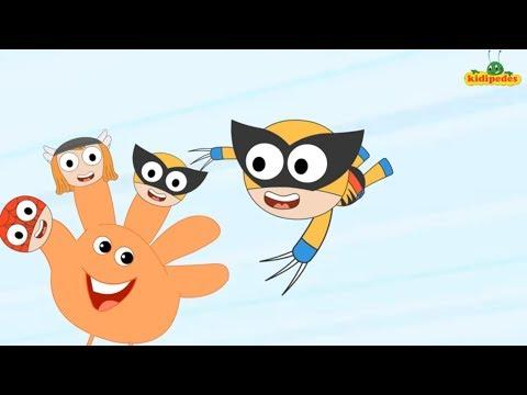 Finger Family  Nursery Rhyme - Superhero Twist - Songs for Babies & Children