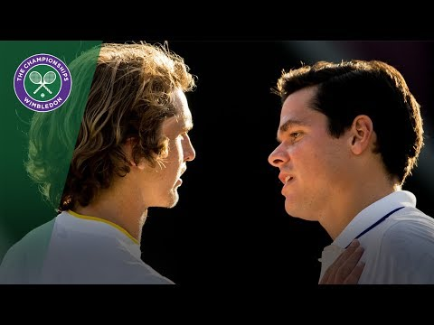 Milos Raonic v Alexander Zverev highlights - Wimbledon 2017 fourth round