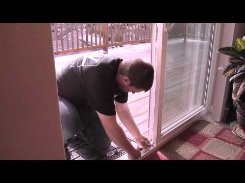 How to Adjust a Patio Door Roller