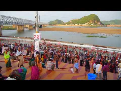 Krishna Pushkaralu, Vijayawada, Andhra Pradesh, India HD Video