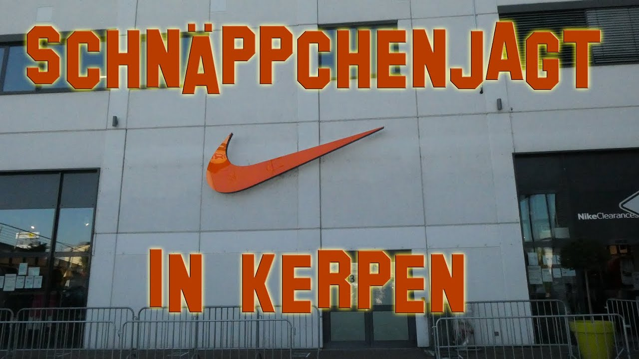 Donnerstag Abend im Nike Outlet Kerpen - YouTube