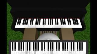 Roblox Piano- Man In The Mirror - Michael Jackson Pas plein (Notes dans la description)