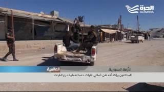 فصائل سورية تدعمها أنقرة تطرد داعش من مدينة جرابلس السورية الحدودية.