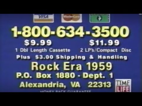 Rock Era 1959 Music CD commercial