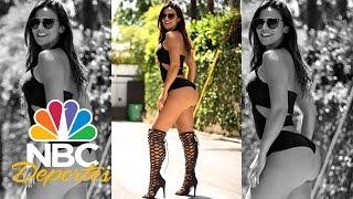 Andrea Rincón, modelo e hincha colombiana | Deporte Rosa | NBC Deportes