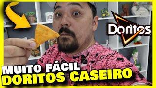 DORITOS CASEIRO - Como fazer Doritos caseiro FÁCIL / receita de Nachos original
