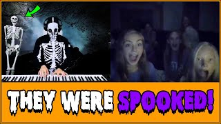 SPOOKY Skeleton Plays Piano on Omegle!!