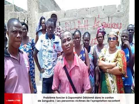 Problème foncier à Zopomahi: Les victimes dénoncent une injustice et interpellent les autorités
