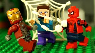 відео лего як зробити павука з майнкрафт