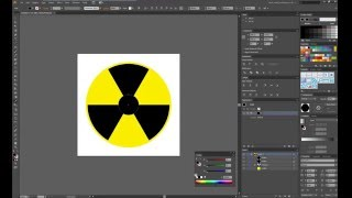 Create radiation symbol in Illustrator