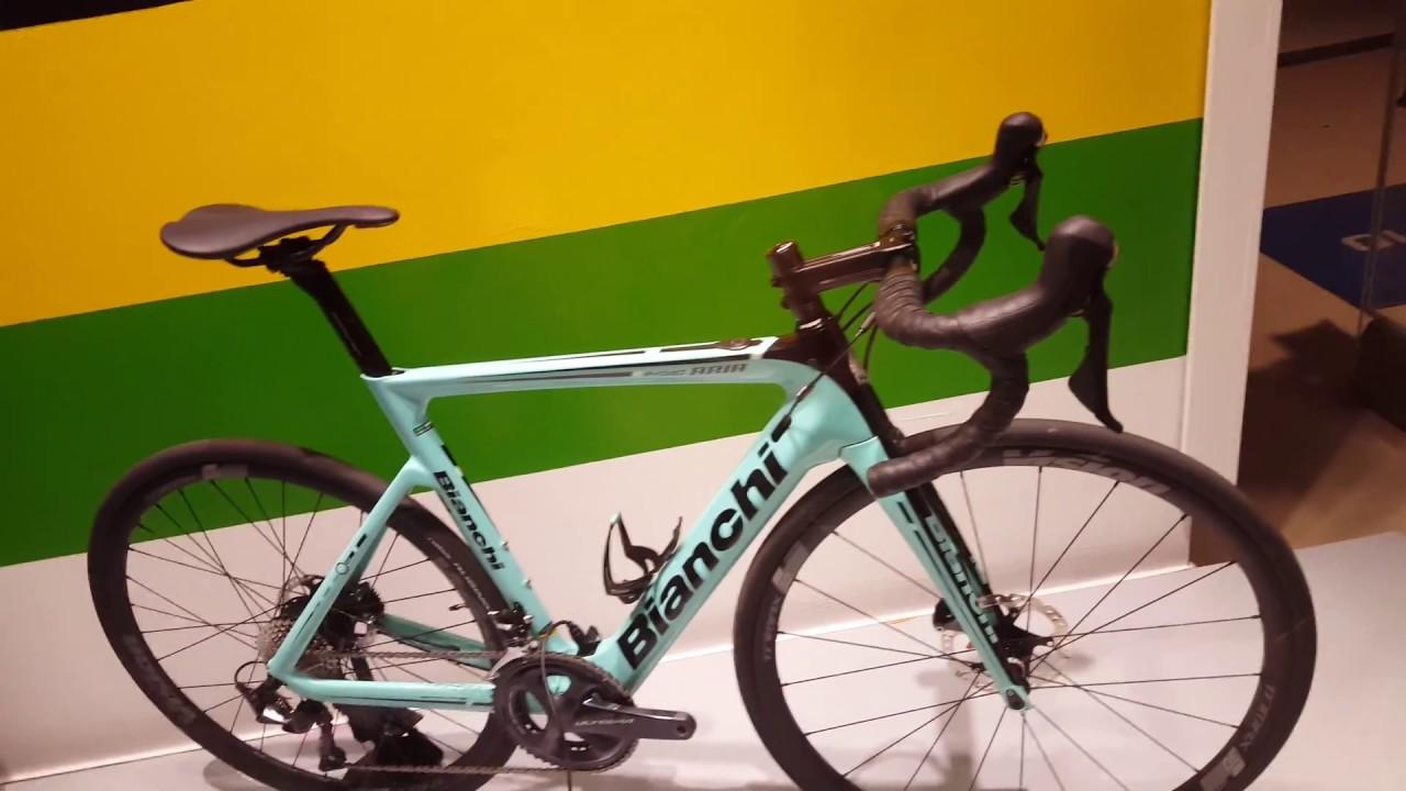 6808089c642 Bianchi ARIA Disc E-road Celeste Green Ultegra Di2 Electric Bike Walkaround   NO ADS