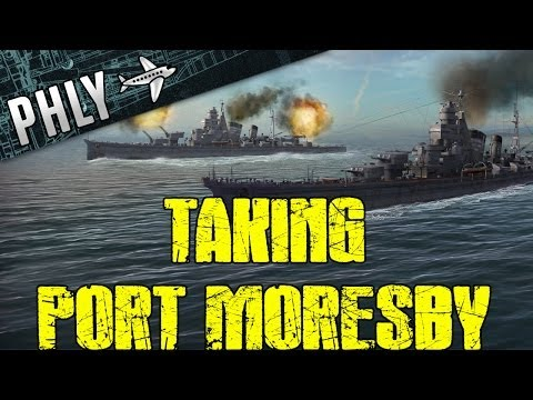 Battlestations Pacific - Taking Port Moresby- Quest For War Thunder Ships #2