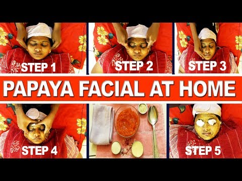 FULL VIDEO:Relaxing Papaya Facial At Home |Glowing Skin With Papaya| How To Do Papaya Facial At Home