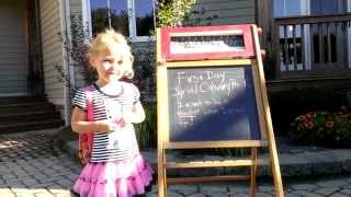 Megs first day of pre k