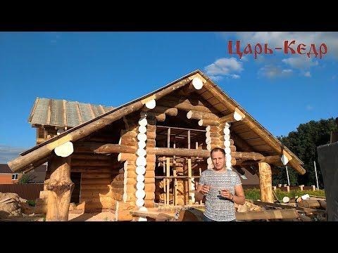 Дом из Алтайского кедра. Строим деревянный дом из бревна.