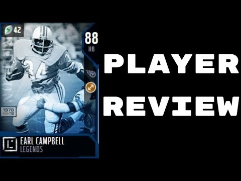 88 OVR Earl Campbell   Player Review   Madden 18 Ultimate Team Gameplay