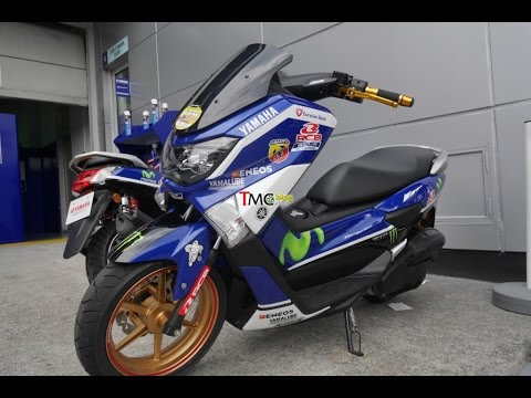 Yamaha NMAX Movistar Yamaha - Paddock Bike MotoGP 2016 - YouTube
