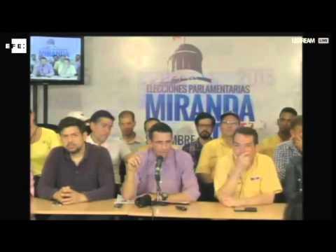 "Capriles pide a Maduro ponerse ""a la orden"" del Parlamento electo"