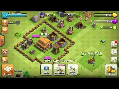 Clash of clans Apple Mac: attack strategy for town hall 3s and 4s