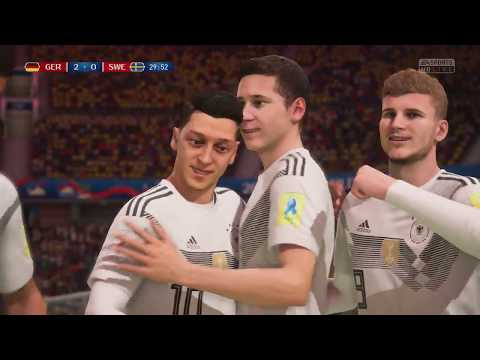 World Cup 2018 - Germany vs Sweden - Group F Full Match Sim (FIFA 18)