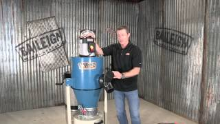 Baileigh Industrial Dc-600c Cyclone Dust Collector 1 Micron Woodworking Filtration System
