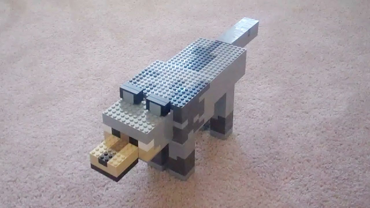 How To Build Minecraft Wolf