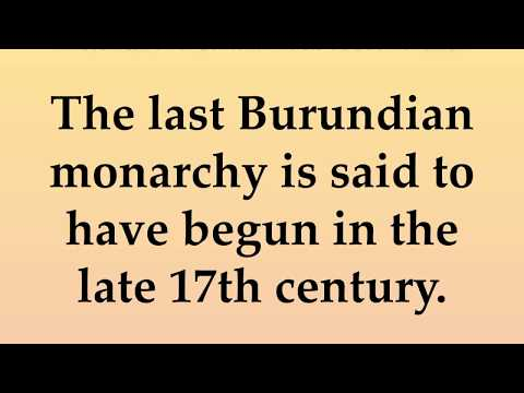 Historical and Cultural Facts about Burundi