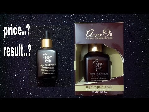 Argan oil night repair serum review. Should you buy it?