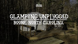 Winter Camping at Glaṁping Unplugged! | Boone, NC