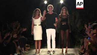 Patricia Vieira and Osklen show at the opening day of Brazil fashion week