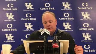 Kentucky HC Mark Stoops Previews Missouri Matchup