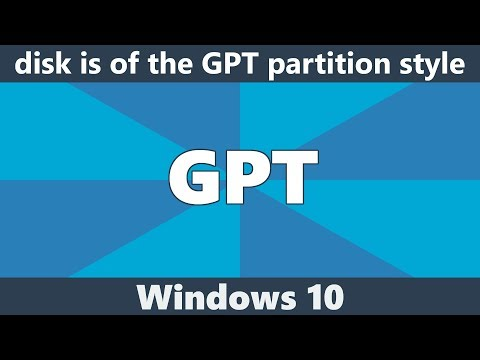 The selected disk is of the GPT partition style | IT