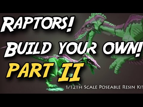 Build your OWN Raptor Figure Part 2 - from Creative Beast Studio