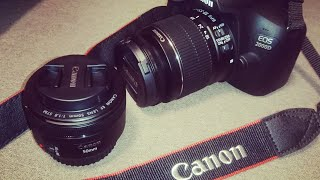 Canon EOS 2000D camera unboxing and short review