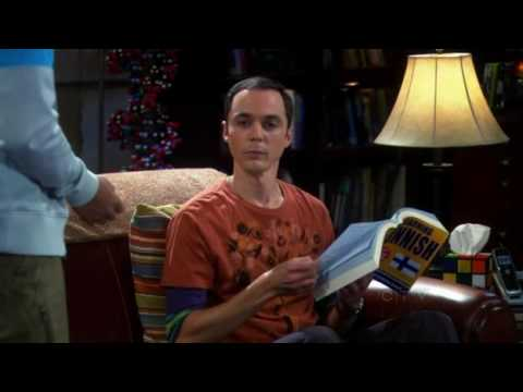 The Big Bang Theory Sheldon learns Finnish